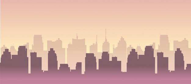 Abbildung der skyline der stadt