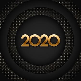Abbildung des 2020 schwarzen und des goldneuen jahres