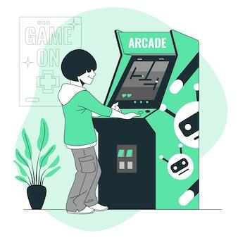 Abbildung des arcade-maschinenkonzepts
