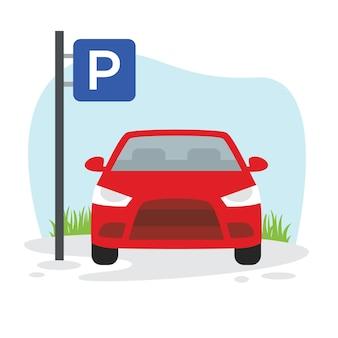 Abbildung des auto-parkplatzes