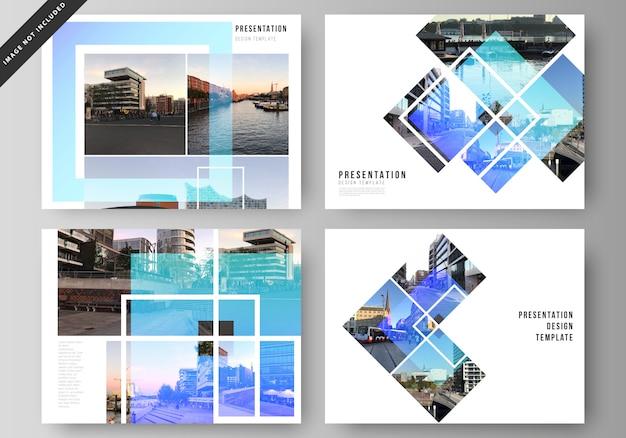 Abbildung des bearbeitbaren layouts der präsentationsfolien design business-vorlagen