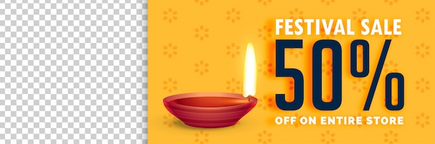 Abbildung des diwali-verkaufs mit bildraum