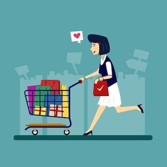 Abbildung des einkaufscharakters