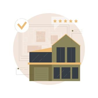 Abbildung des grundrisses von immobilien