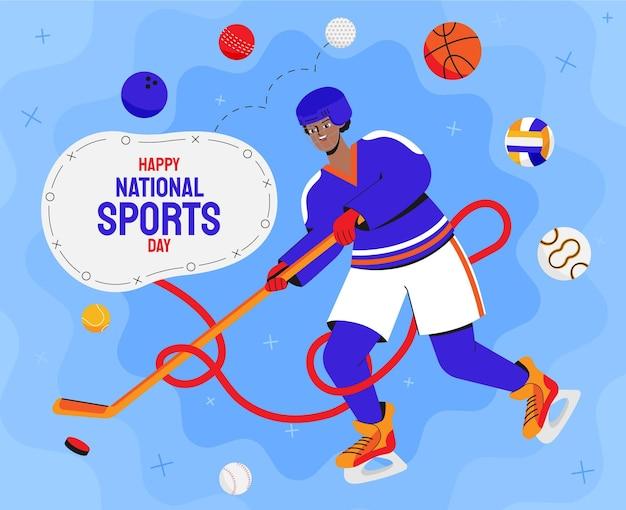 Abbildung des indonesischen nationalsporttages