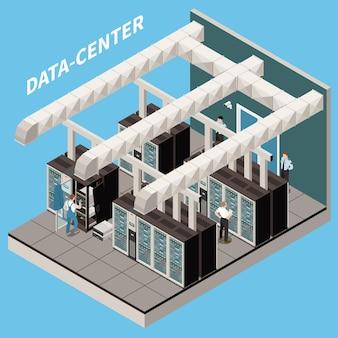 Abbildung des isometrischen rechenzentrums