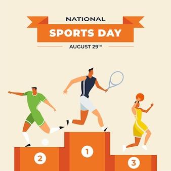 Abbildung des nationalsporttages Kostenlosen Vektoren