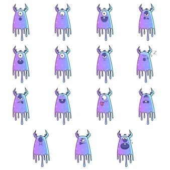 Abbildung des purpurroten monsters eingestellt.