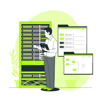 Abbildung des serverstatuskonzepts