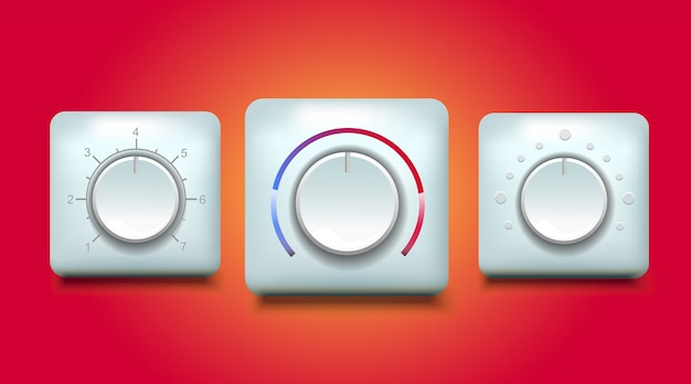 Abbildung des temperaturdrucks und der geschwindigkeit der reglertaste