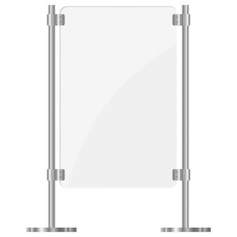 Abbildung eines glasbildschirms mit metallgestellen