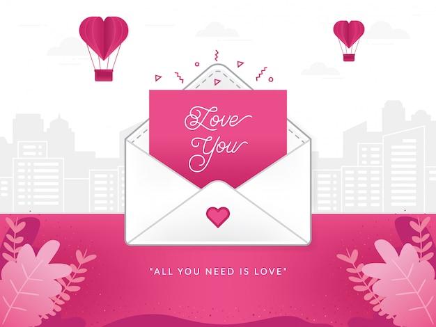 Abbildung eines liebesbriefes