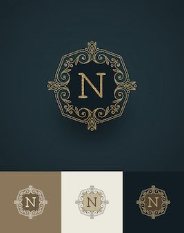 Abbildung - glitzer gold monogramm.