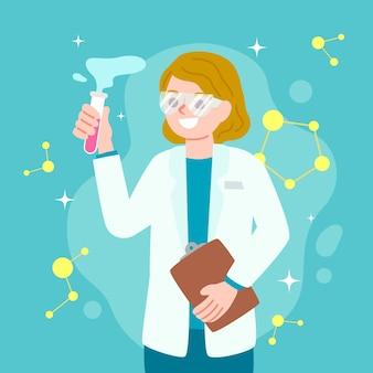 Abbildung mit wissenschaftlerin