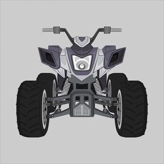 Abbildung motor quad Premium Vektoren