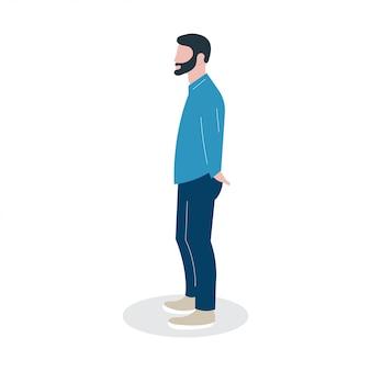 Abbildung person charakter mit menschen kerl arbeit lebensstil