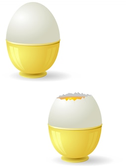 Abbildung von eiern mit eigelb