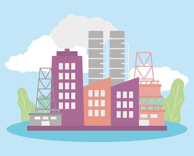 Abbildung von industrieanlagen