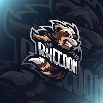 Abbildung waschbär logo maskottchen für teamkollegen