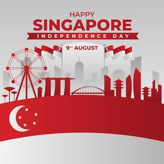 Abbildung zum nationalfeiertag in singapur