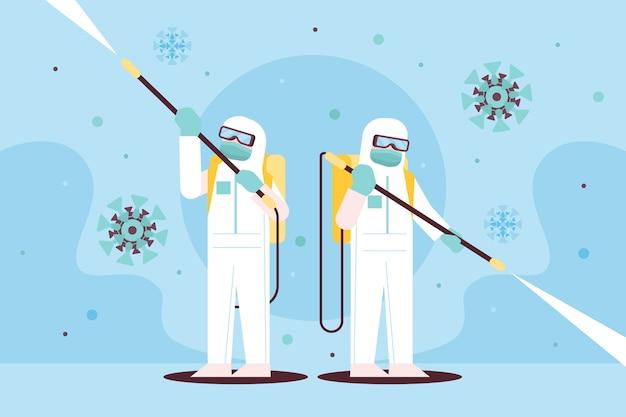 Abbildung zur virusdesinfektion