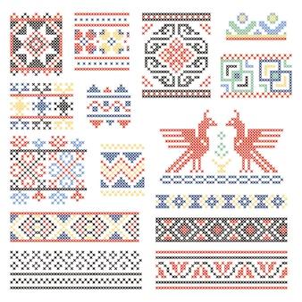 Abbildungen der traditionellen russischen kultur