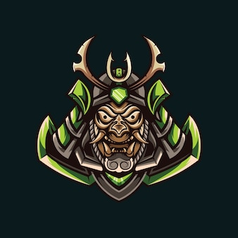 Abbildungen des grünen samurai