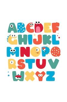Abc, fröhliches alphabet für kinder