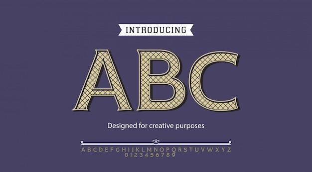 Abc-schrift. für etiketten und verschiedene schriftarten