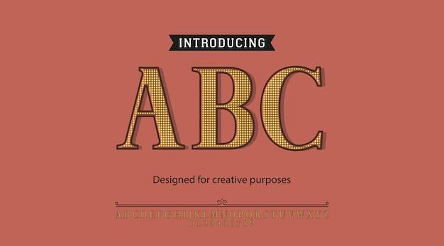 Abc-schrift. für verschiedene schriftarten