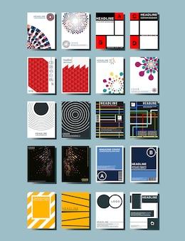 Abdeckung broschüren vorlage