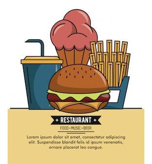 Abdeckung der speisekarte des restaurants