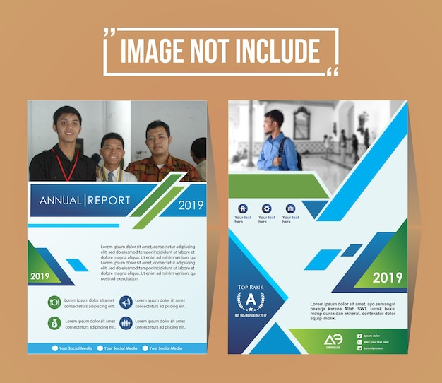 Abdeckung eines modernen business broschüre layout oder flyer vorlage
