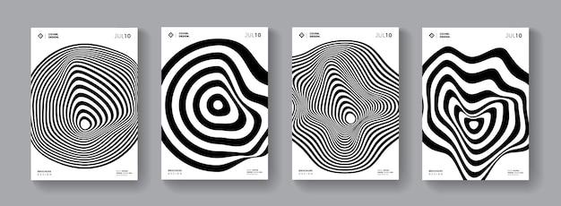 Abdeckungen mit abstrakter minichrom-form. minimalistisches geometrisches poster.s-set