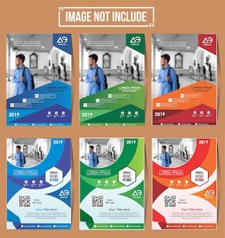 Abdeckungssatzflieger-broschürendesign mit buntem