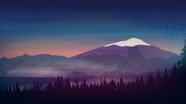 Abendlandschaft