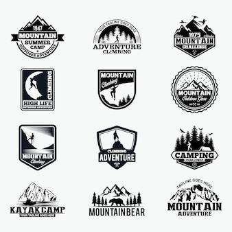 Abenteuer abzeichen und logo