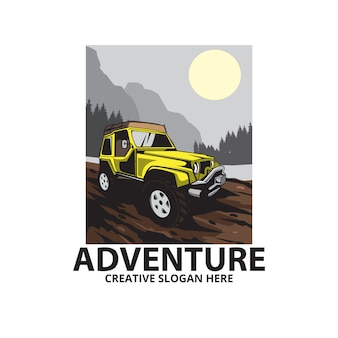 Abenteuer auf dem berg, autoillustration