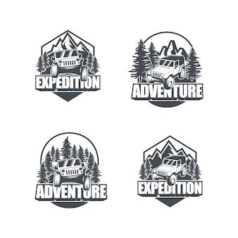 Abenteuer auto-logo-sammlung
