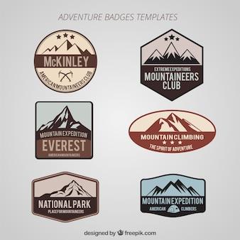 Abenteuer badges set