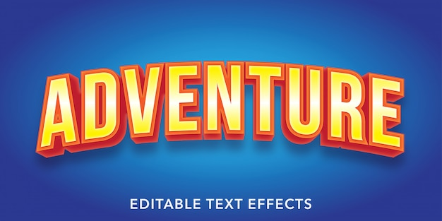 Abenteuer bearbeitbare texteffekte
