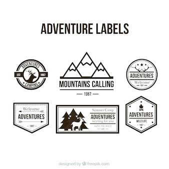 Abenteuer etiketten sammlung