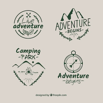 Abenteuer-etiketten sammlung