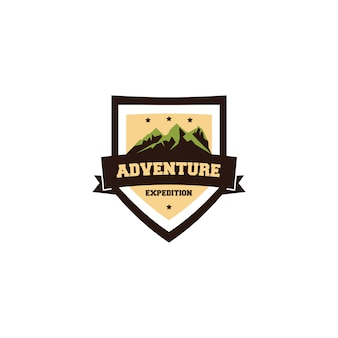 Abenteuer expedition vintage logo design