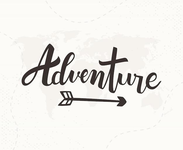 Abenteuer handgeschriebene schrift