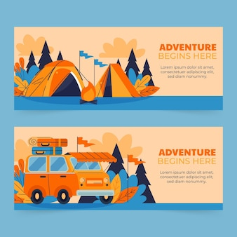 Abenteuer horizontale banner eingestellt