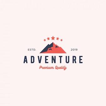 Abenteuer logo abzeichen vektor icon