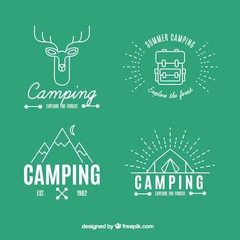 Abenteuer logos in linearen stil