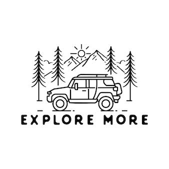 Abenteuer monoline badge design