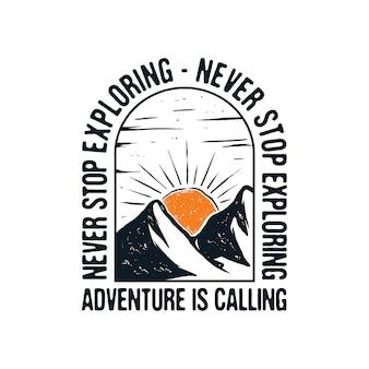 Abenteuer nennt illustration design